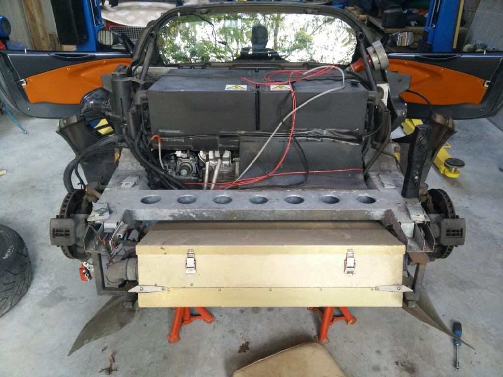Battery boxes and AC-150 PEU